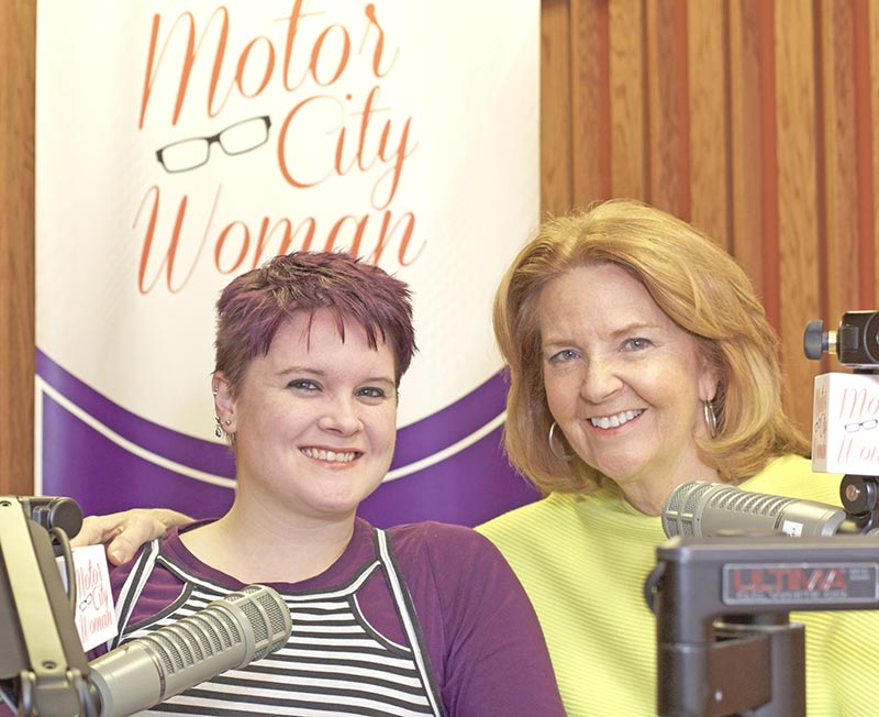 Anne and Monica Doyle in the Motor City Woman recording studio