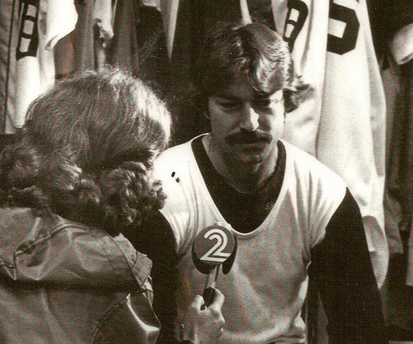 Anne Interviewing Tom Brookens, Detroit Tigers, 1980